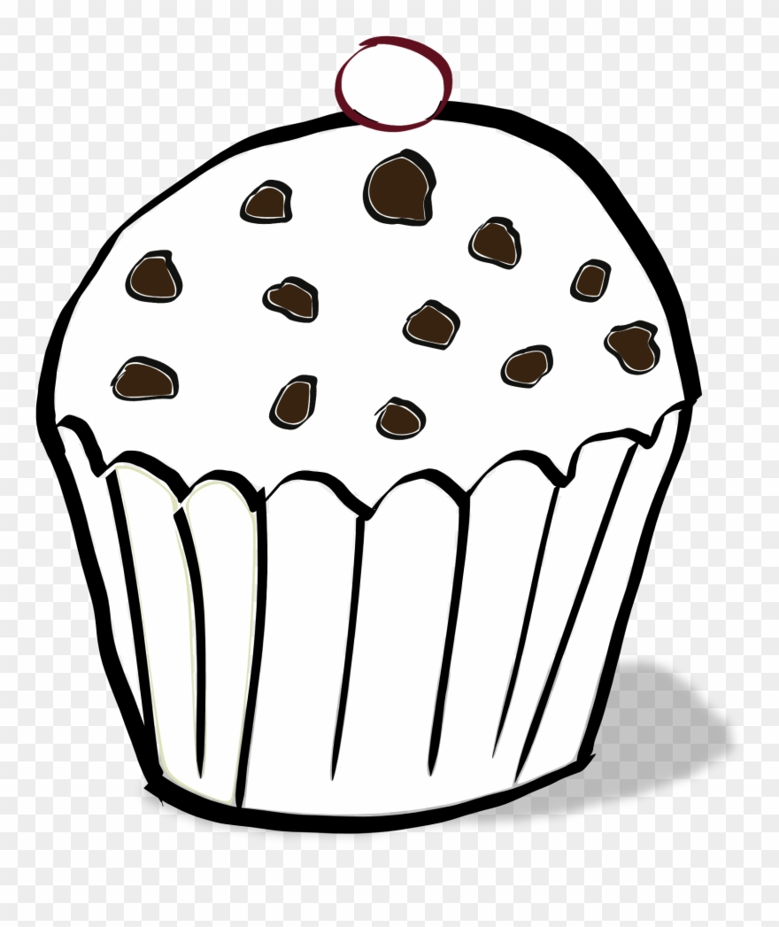 Chips Clipart Colouring - Chocolate Chip Muffin Colouring ...