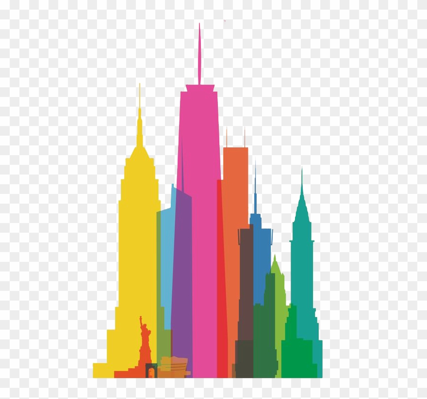 Clip Art Free Download New York City Skyline Clipart Animated New York Buildings Png Download 313161 Pinclipart