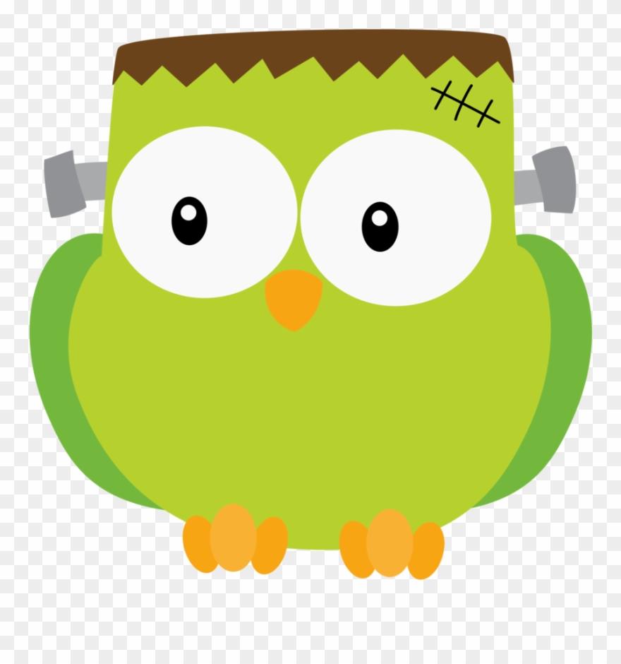 Owl halloween. Frankenstein clipart cute png