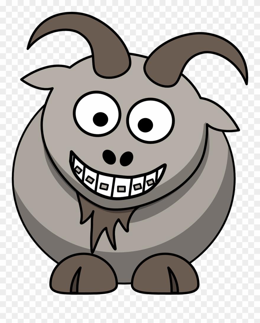 Goat Horns Animal Gambar Animasi Kambing Lucu Clipart