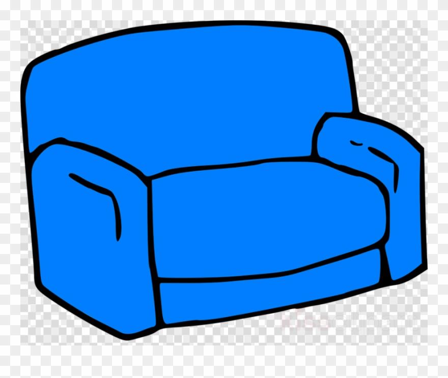 Blue Sofa Clipart Couch Clip Art Speech Bubble Icon Transparent