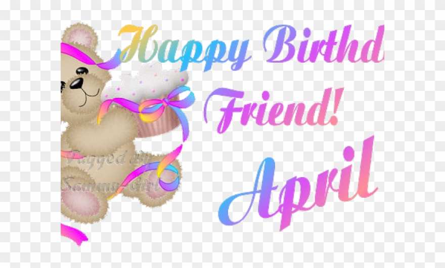 April happy. Birthday clipart png download