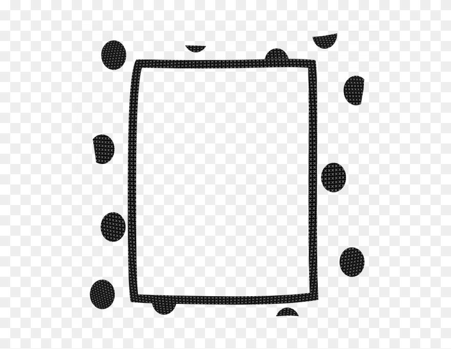 Black And White Polka Dot Border Clip Art Png Download 3151605