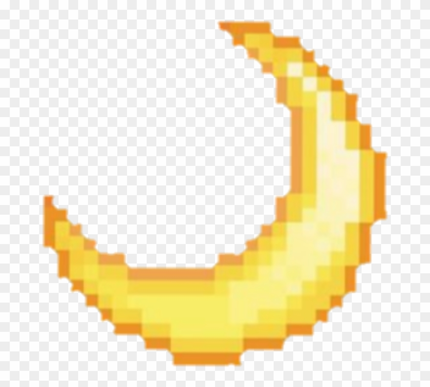 Moon Yellow Aesthetic Pixel Tumblr Clip Art Grunge - Png