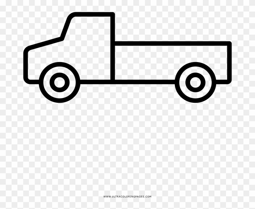 - Pickup Truck Coloring Page - Drawing Clipart (#3175422) - PinClipart