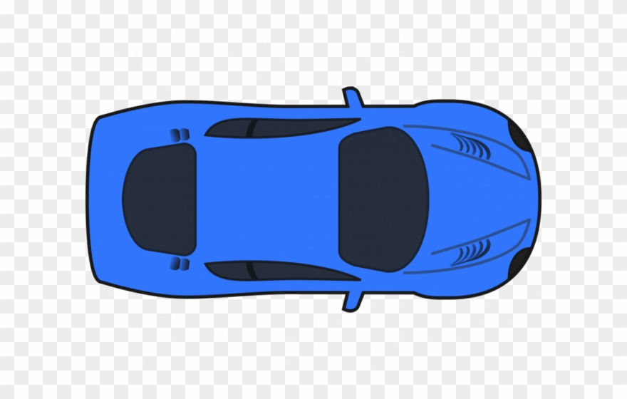 Blue Car Clipart Eye Clipart - Car Top Down View - Png Download