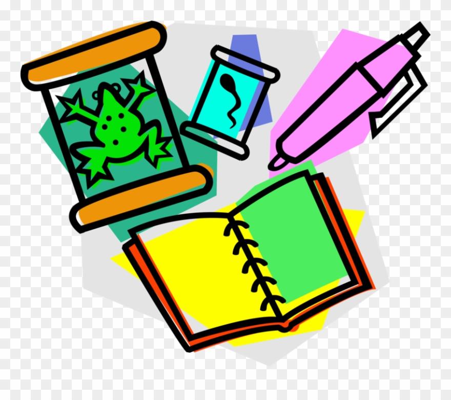 Science biology. Vector illustration of education