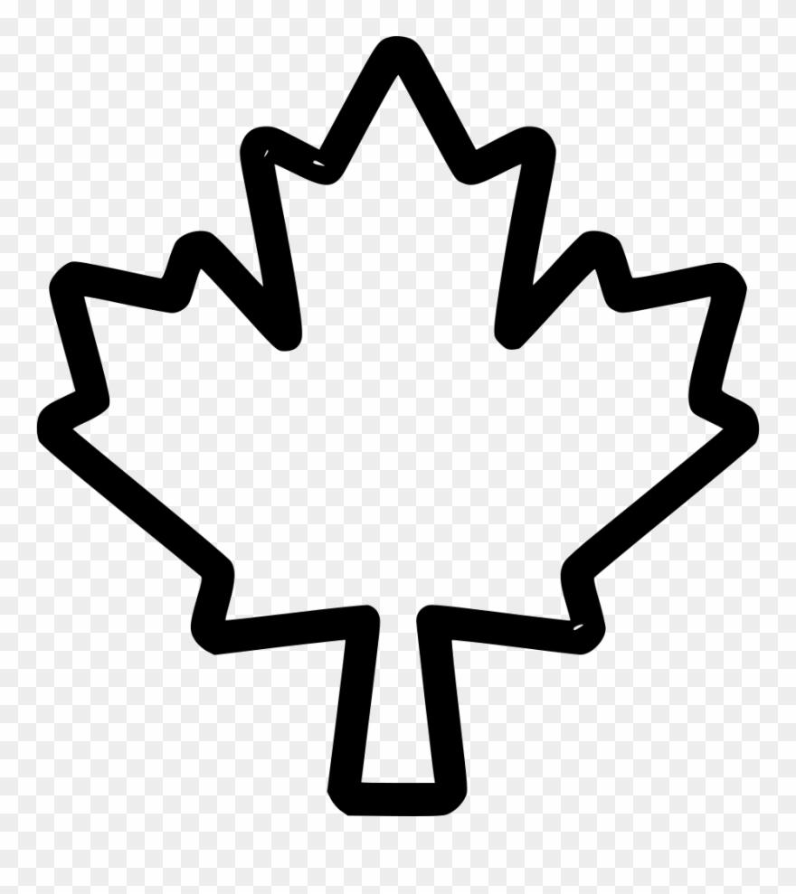 Png File Outline Maple Leaf Png Clipart 3185138