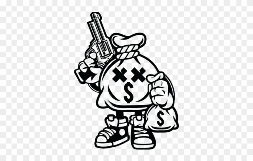 Gun Clipart Money - Money Hungry Cartoon - Png Download ...