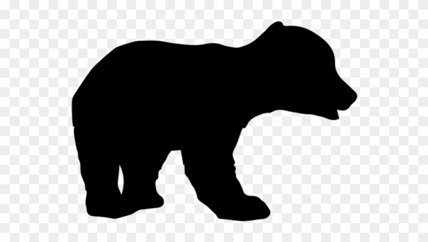 Cub Clipart Walking Bear - Animal Silhouettes - Png ...