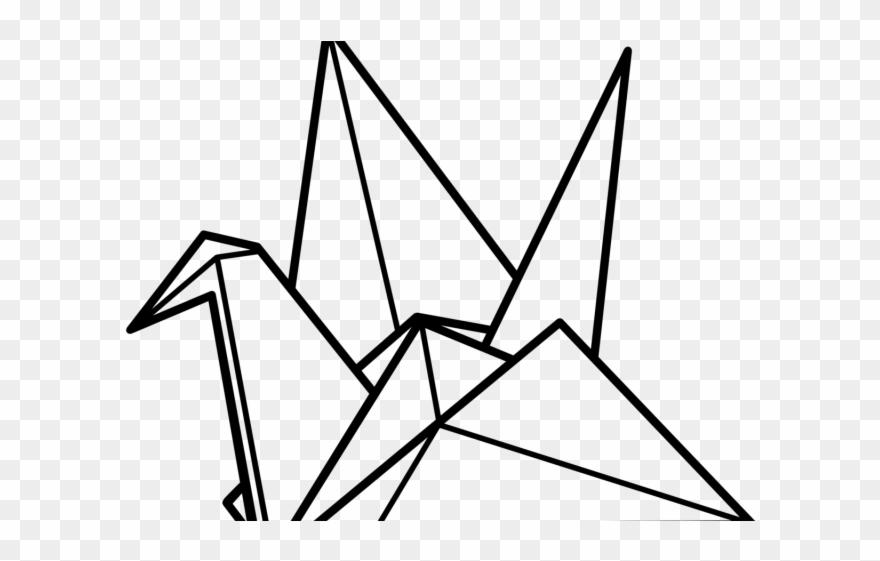 Drawn Origami Origami Bird Paper Crane Clip Art Png Download