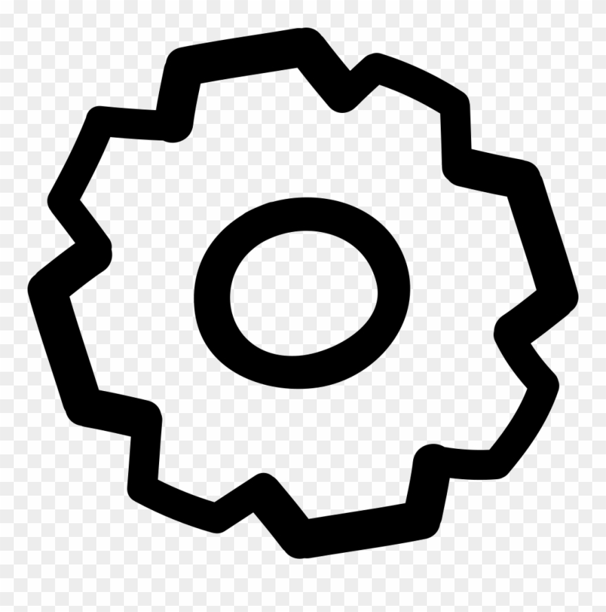 Cogwheel Hand Drawn Outline Comments - Circle Clipart