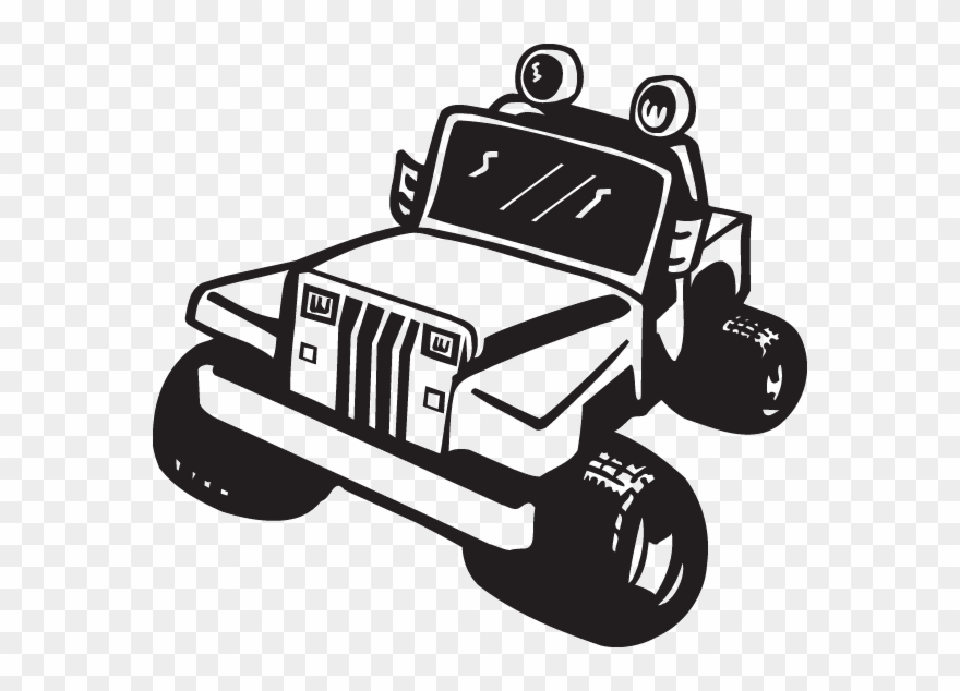 Png Atv Clipart Muddin Jeep Vector Clipart Black And White