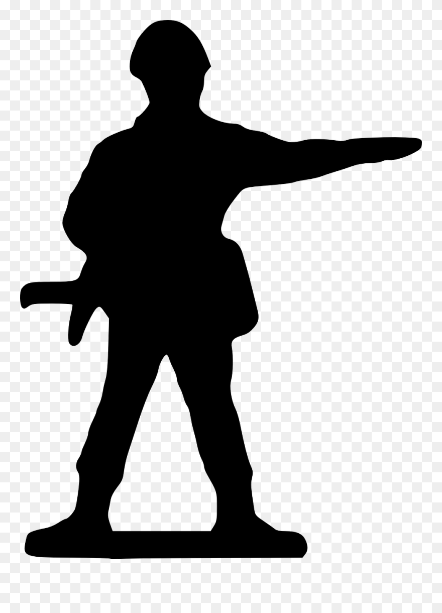 Soldier, Silhouette - - Ww1 Soldiers Cartoon Png Clipart