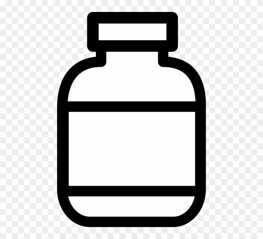 Bottle Clipart Plain Pill Bottle Clipart Black And White Png Download 323484 Pinclipart