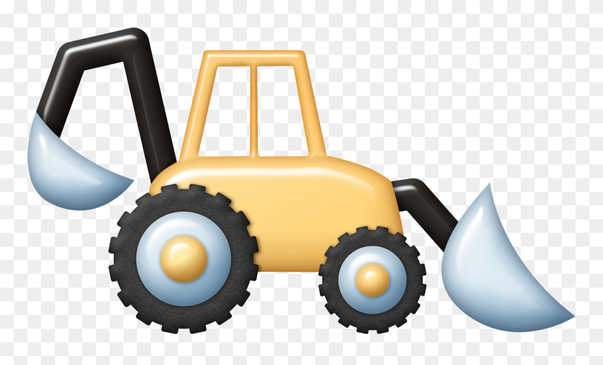 Tractor Clipart, Construction Worker, Construction - Construction - Png Download