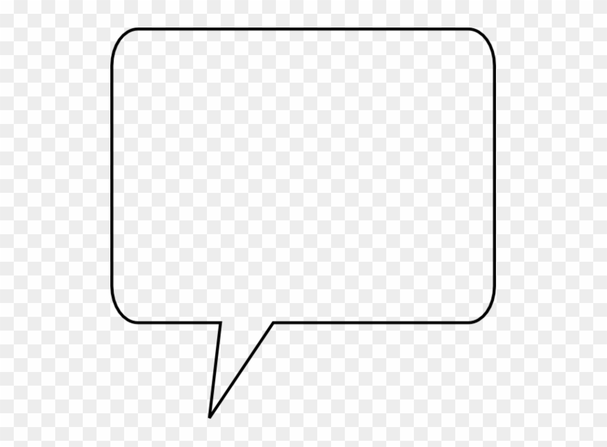 Speech bubble square. Clip art vector png