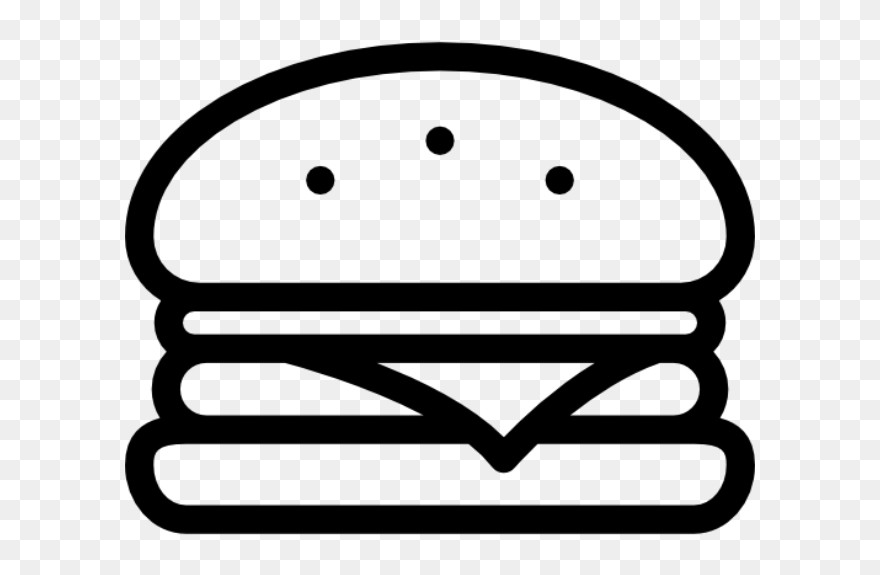 Nusr Et Home Onion Clip Art Black And White Lime Clip - Burger Drawing Black And White - Png Download