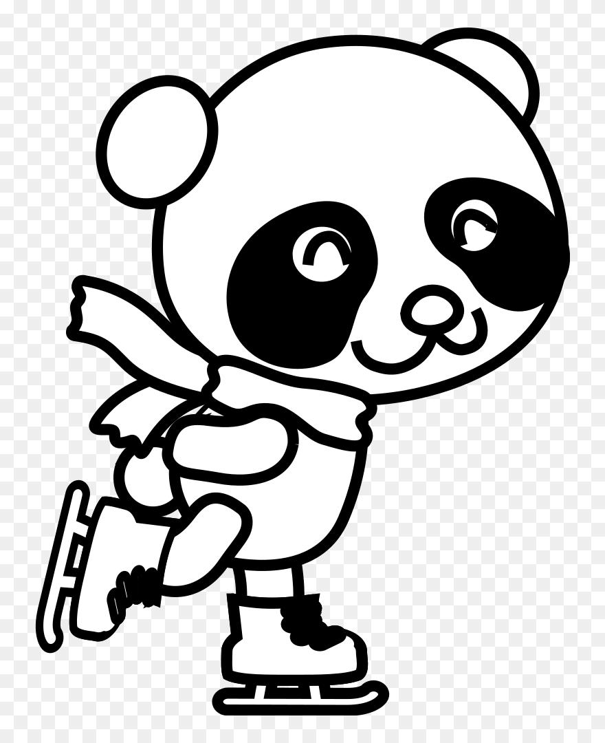 Medium Image Christmas Panda Coloring Pages Clipart 329175 Pinclipart