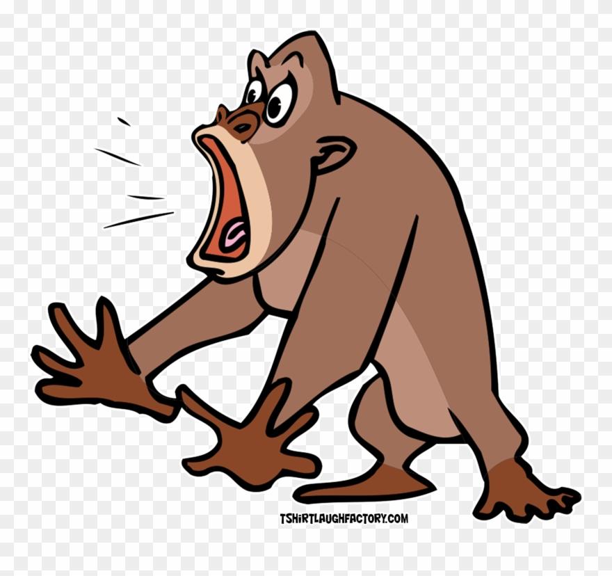 clipart animals gorilla gorilla cartoon scared png download 3209029 pinclipart clipart animals gorilla gorilla
