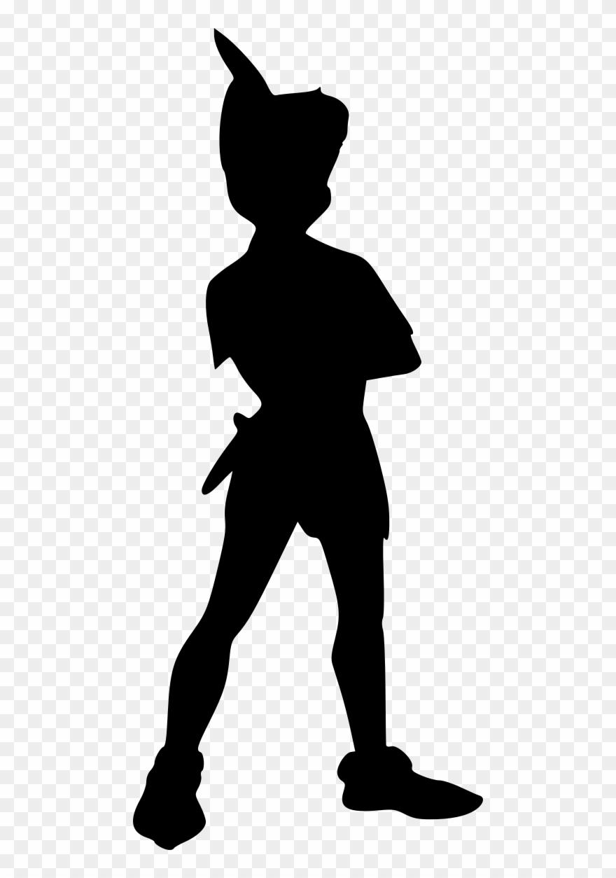 Movies, Personal Use, Peter Pan Standing, - Sombra De Peter Pan Clipart