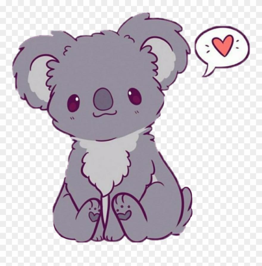 Kawaii Cute Easy Drawings Of Koalas Clipart 3215548 Pinclipart