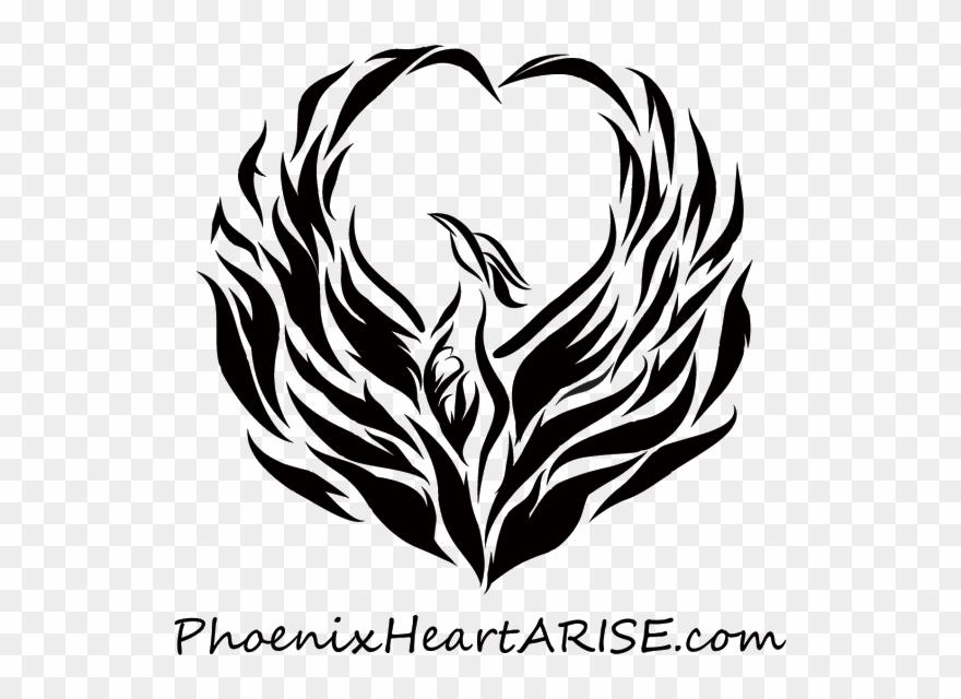 Logo Phoenix Heart In Heart 44 Image Transparent Background