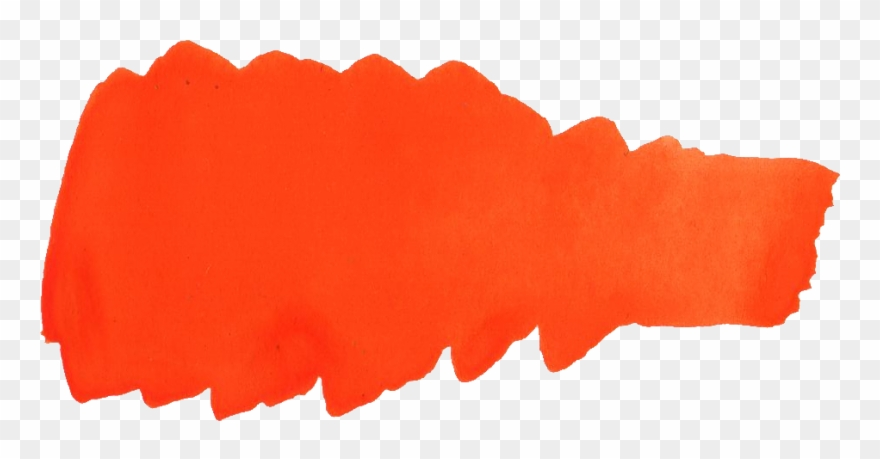 Free Download Orange Paint Stroke Png Clipart 3226342 Pinclipart