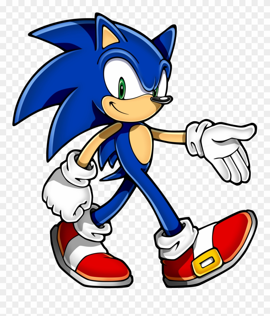 Clipart Of Fiction, Cornell And Invision - Sonic Head - Png Download