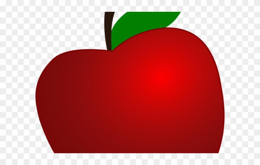 Apple transparent. Fruit clipart background heart