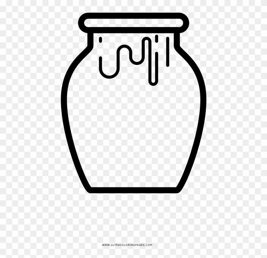 Honey Jar Coloring Page   Dibujos De Tarros De Miel Para Colorear