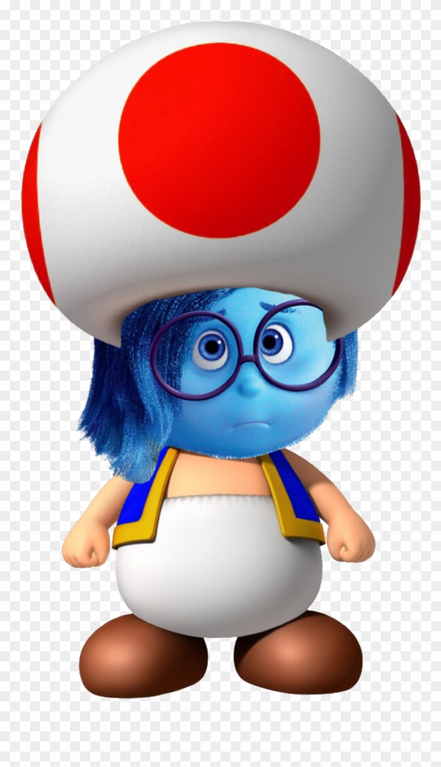 Toadstool S Sadness Mario Bros Wii Blue Toad Clipart 3247447 Pinclipart