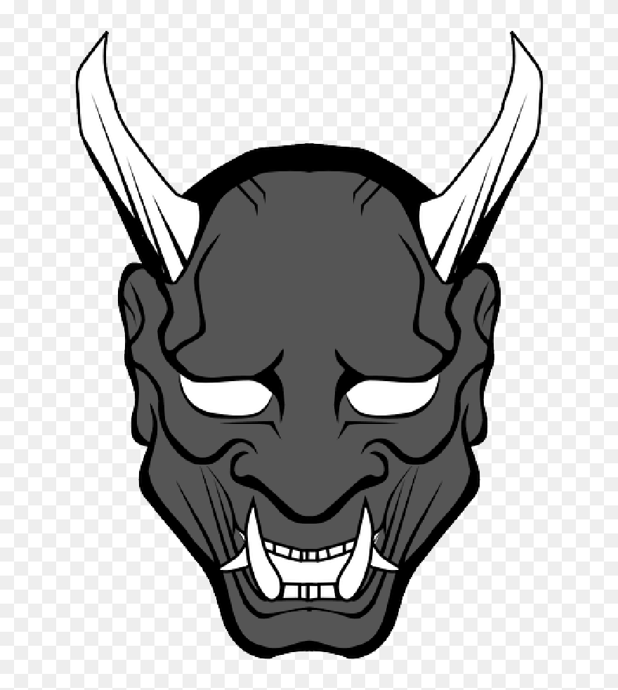 Free Png Download Japan Coloring Book - Oni Mask Png Clipart ...