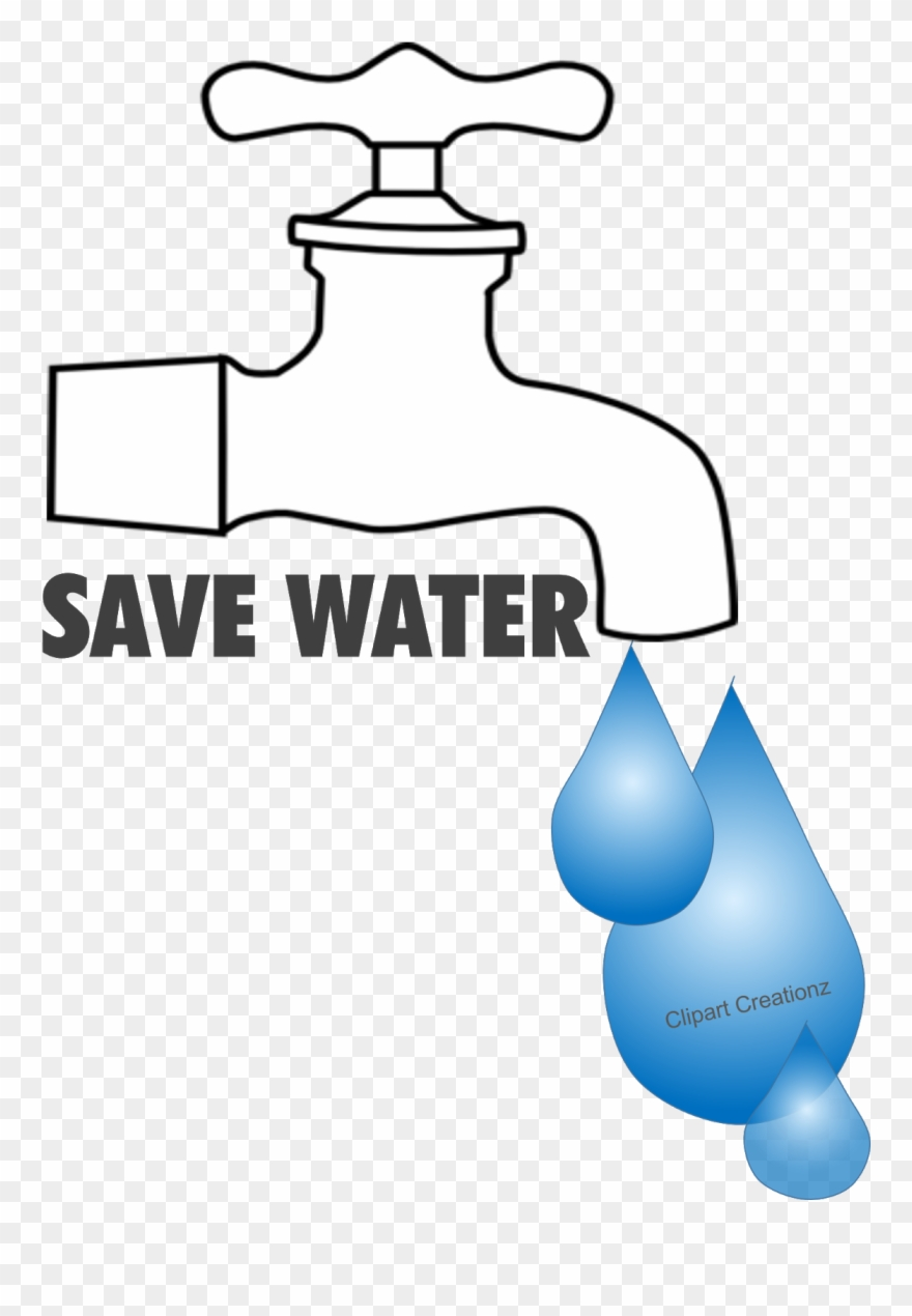 Save water poster free drawing image of tap clipart
