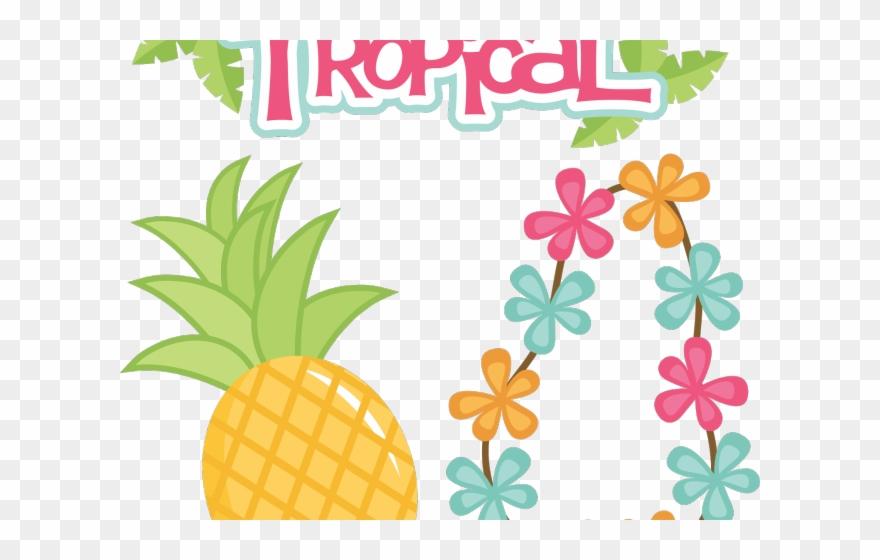 Tropical Clipart Tropical Theme Topo De Bolo Tropical Para