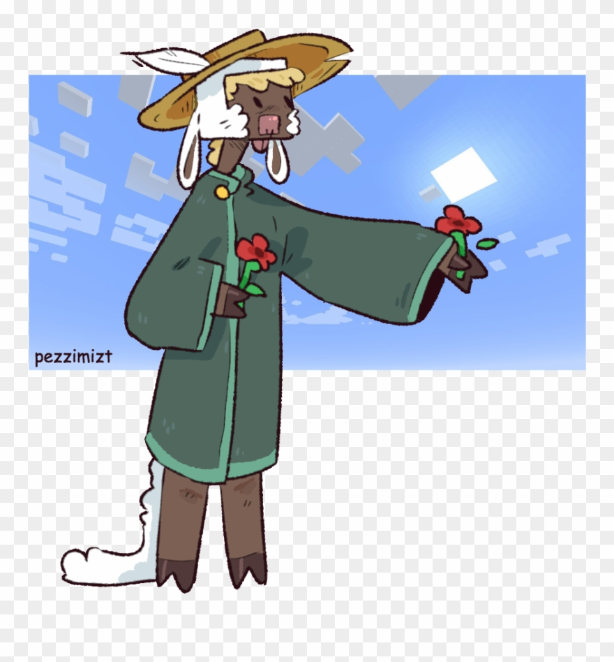 My Minecraft Oc Poppy Shes A Sheep Person Who Was Found