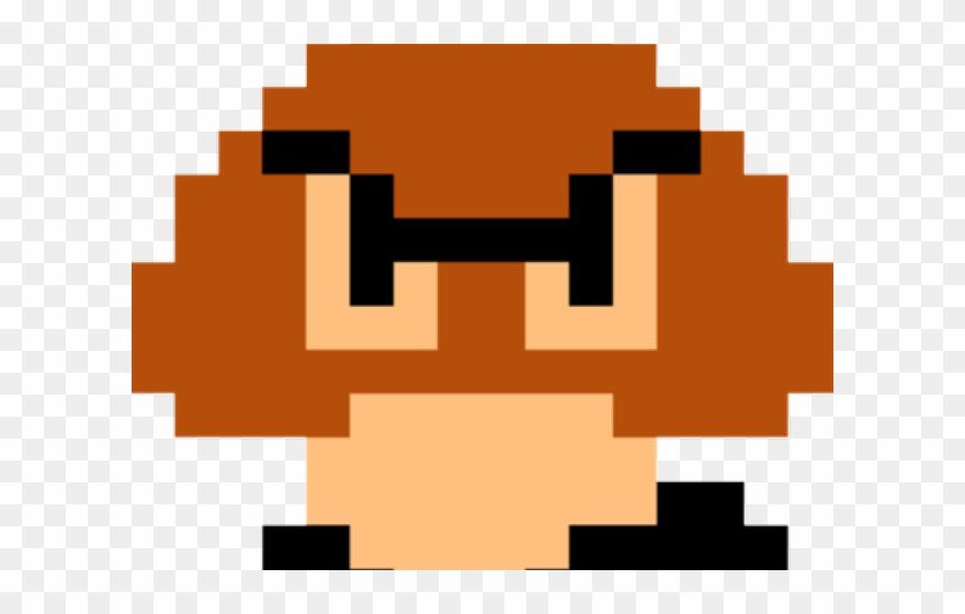 Super Mario Bros Goomba 8 Bit Clipart 3268442 Pinclipart