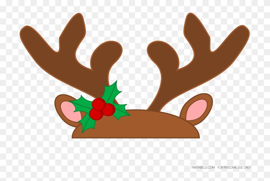 image about Printable Reindeer Antler named Reindeer Antlers Clear Historical past Clipart (#3273424