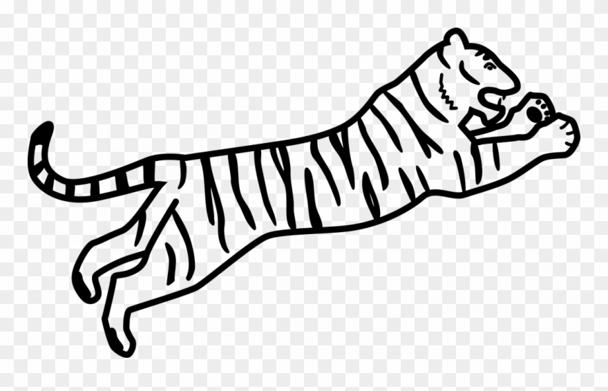 Large Size Of How To Draw A Tiger Paw For Beginners Bengal Tiger Easy Drawing Clipart 3274524 Pinclipart