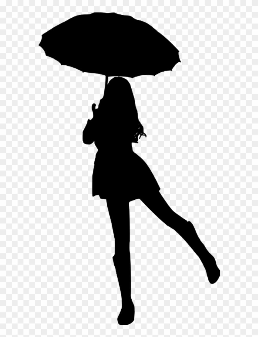 9253068be8862 Umbrella Sticker - Umbrella Girl Silhouette Clipart (#3275507 ...