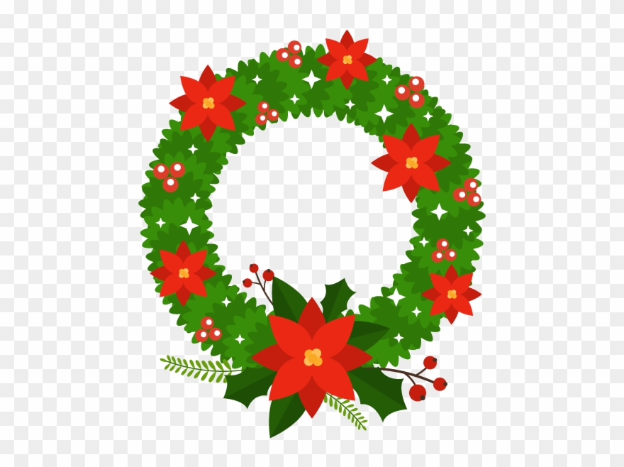Christmas wreath circle. Blinking wreaths animated stickers