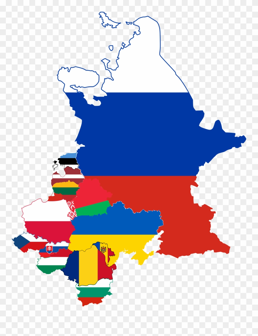 World Map Flag Clipart Europe - Eastern Europe Flag Map - Png ...