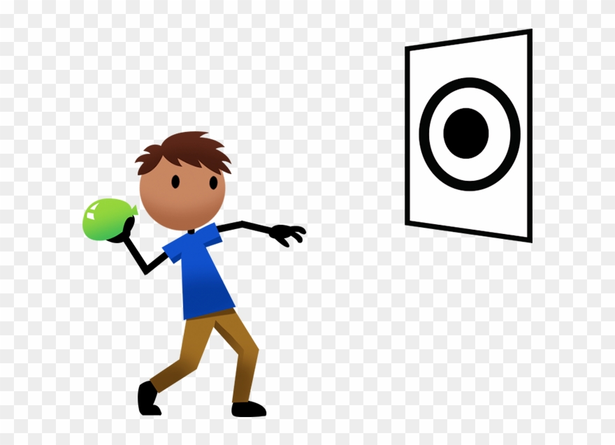 Game Clipart Throw Ball Throwing A Ball At A Target Png Download