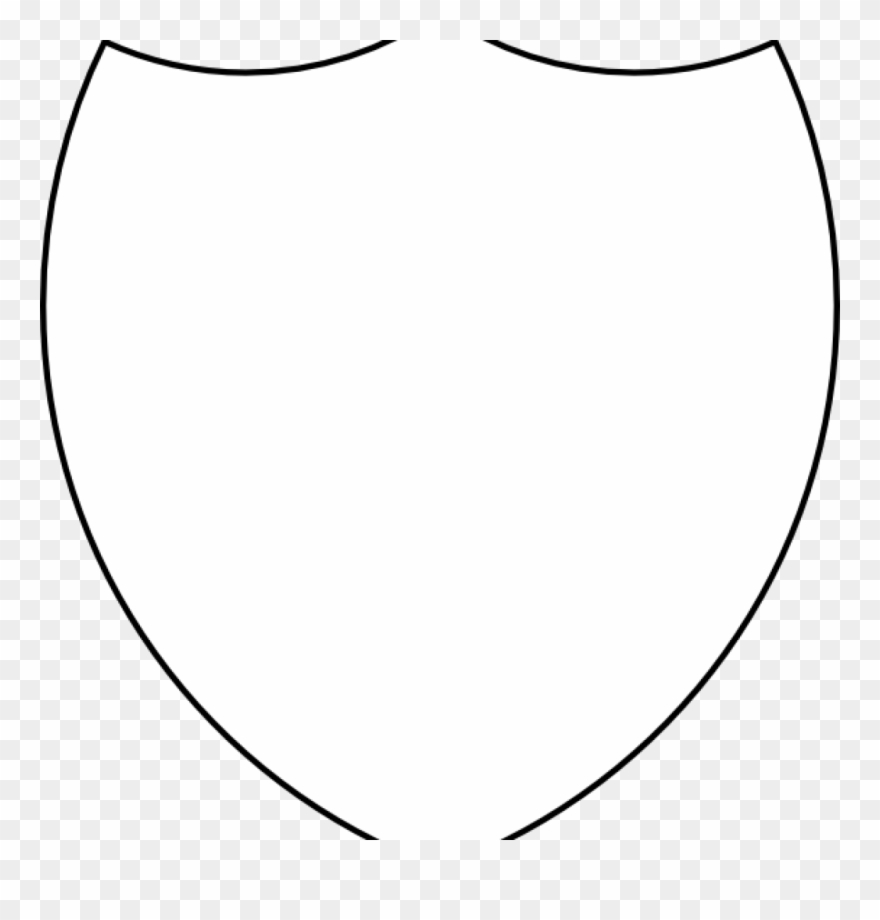 Coat of arms shield. Free clipart template outline