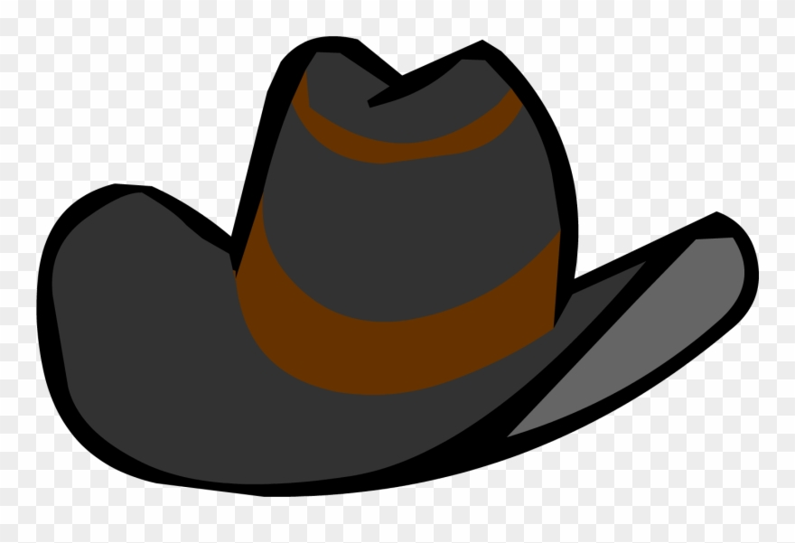 Cowboy hat front view. Clipart within