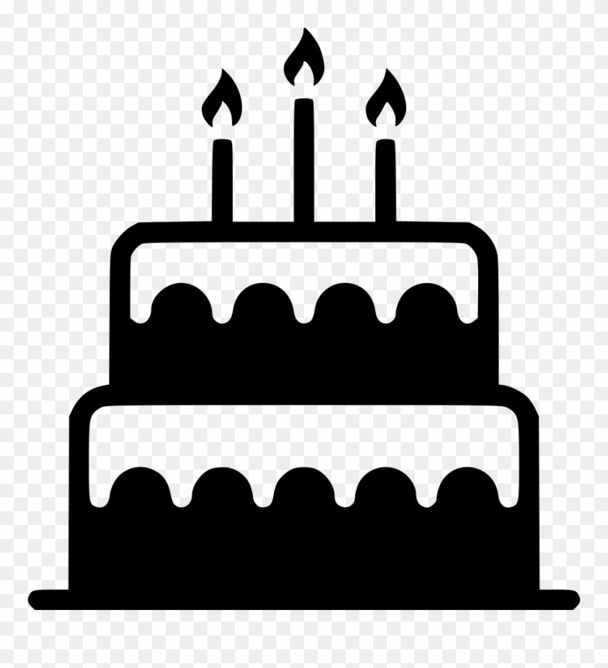 Black White Birthday Cake Clipart Free Download