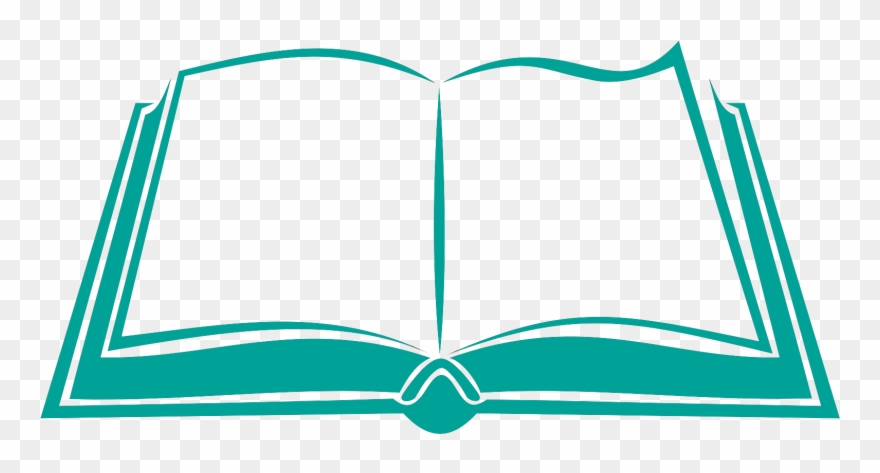 Books logo. Open book clipart png