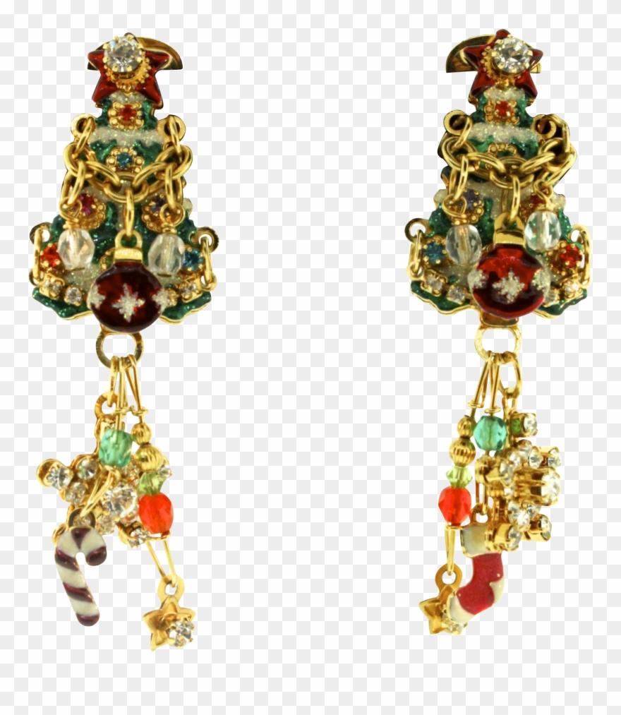 d57552507 Rare Vtg Lunch At The Ritz Latr 2go Merry Christmas - Earrings Clipart