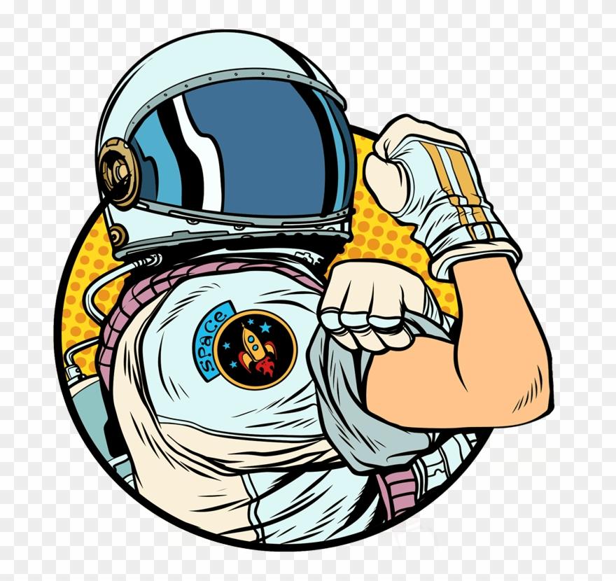 retro astronaut clip art - 880×830