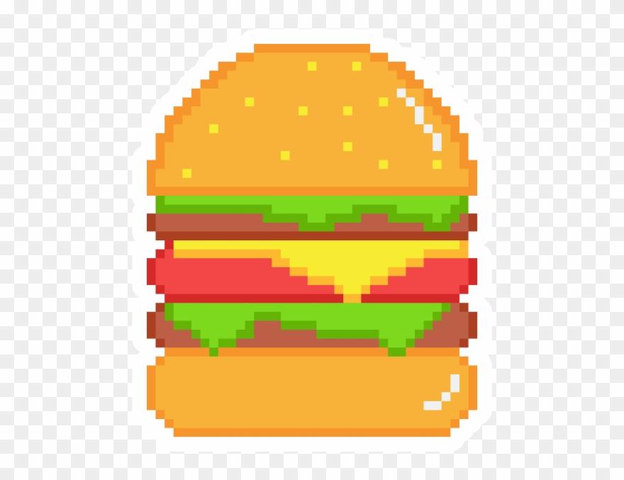 Pixel Art Burger Stickers Rick Grimes Pixel Art Clipart